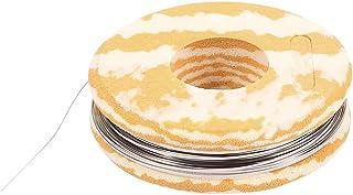 sourcingmap® 7,5M 24,6ft Cable calefactor plana nicromio 0,1x0,5mm para elementos de calefacción