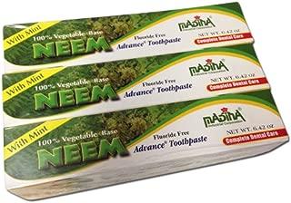 6 Tubes Madina Neem Toothpaste 100% Vegetable Base Flouride Free Advance Mint