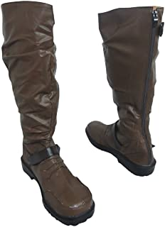 Noragami Yato Brown Long Halloween Cosplay Shoes Boots