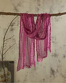 Japanese Monochrome Natural Linen Texture Vintage Linen Fold Scarves Scarf Autumn & Winter Thin Male Literary, houseHold, Amethyst, 60 180 + 2 3cm Shall