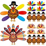 "Turkey ornaments: made of cardboard, sturdy and durable, nice product for children to learn how to gratitude; Round dot glue: this glue is non-toxic, easy to put those cardboard on the wall Fun turkey paper crafts:""I am thankful for"" is printed on th..."