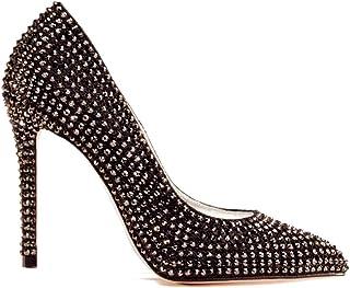 Zapatos de Cristal Swarovski Negro tacón Mujer - Cenicienta Swarovski Black - Fabricados a Mano - Pump Cinderella - Varias Alturas