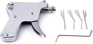 FGJFJ ロックピック錠前屋ツールドアロックオープナーロック解除ツールユニバーサルロック解除ロックピッキングセット 銀