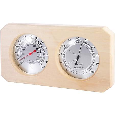 Sauna Hygrothermograph Thermometer /& Hygrometer for Outdoor Indoor Sauna Room