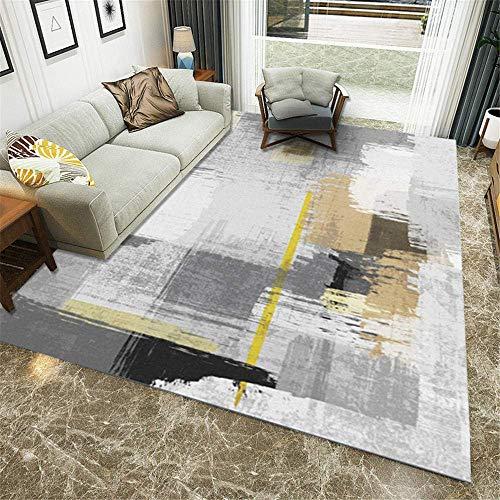 YONGJUN UK Küchenteppich, grau, Vintage, Wohnzimmer, große Teppiche, abstrakte Landhaus-Teppiche, weich, Schlafzimmer, Teppich, bunt, Kinderzimmer, modern, dick, Läufer, Flur.