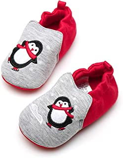 Gallity Baby Toddler Sock Shoes Non-Skid Indoor Slipper Baby Boy Girls Breathable Cotton Shoes Socks Childrens Floor Slipper House Rubber Sole Shoes Toddler First Walker Shoes