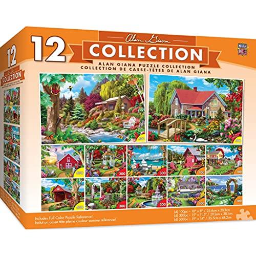 MasterPieces 12-Pack Bundle Puzzles Collection - Alan Giana 12-Pack Bundle 3600 Piece Jigsaw Puzzle