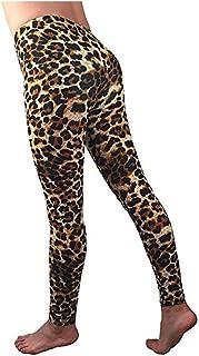 Leggings Fitness for Women,Stretch Yoga Running Gym Sports Leopar Active Pants