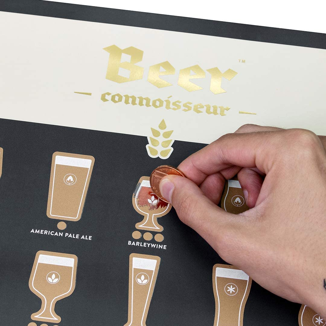 Luckies of 新色追加 London Beer Connoisseur S Scratch Off Poster 定価 Unique