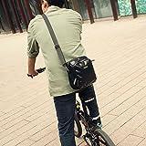 rhinowalk Bike Lenkertasche wasserdicht Stoff Hohe Kapazität 2in 1Front Pack für Falt Tasche Road Bike, mattes schwarz - 7