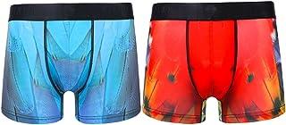 PIXIU Men's Underwear Modern Print Stretch Breathable 2 Pack 3 Pack Short Leg Boxer Brief Trunk