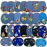 HONMY parches acolchados para vaqueros bordados con patrón de agujeros, para chaquetas, ropa, bolsos, gorras para niños y adultos (25)
