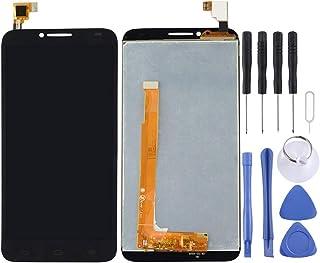 قطع غيار QFH شاشة LCD ومحول رقمي مجموعة كاملة من أجل Alcatel One Touch Idol 2/6037(أسود) طقم استبدال للهواتف المحمول المحم...