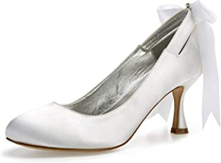d4d16111 SERAPH 17061-64 Zapatos de boda tacón alto con punta cerrada para mujeres  zapatos de