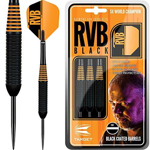 Target Raymond Van Barneveld Dartpfeile – RvB schwarzes Messing Barney 24 g – mit kurvigem Kugelschreiber von Darts Corner