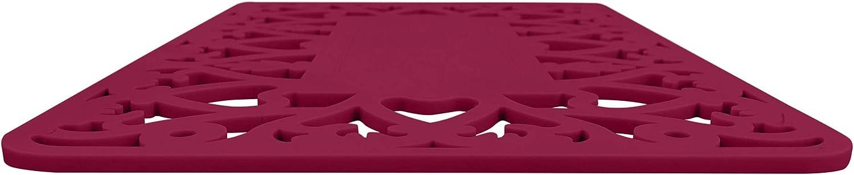 Beige Silicone Trivet Hot Pad 9x13