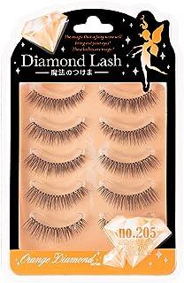 Diamond Lash(ダイヤモンドラッシュ) オレンジ no.205 5ペア