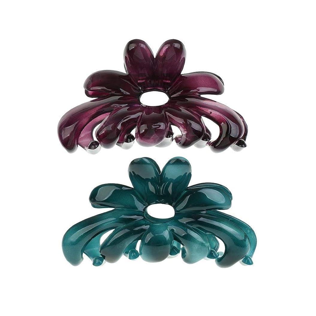 醸造所ブラウスバンドルLUOSAI 美容花髪の爪クリップアクセサリーバレットヘアピン帽子2個