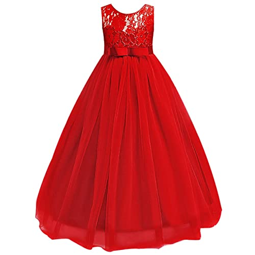 89407a80780c Big Girl Vintage Lace Junior Bridesmaid Dress Dance Ball Pageant Maxi Gown  Floor Long for Party