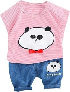 Skirt Pajamas Outfits Clothes Set for 1-5 Years FeiliandaJJ Baby Clothing Set 2pcs Toddler Infant Baby Boy Girl Cartoon Motorcycle Top
