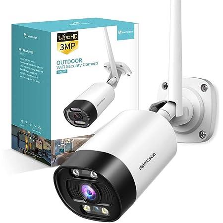 Luowice WLAN /Überwachungskamera 1080P HD WiFi IP Kamera f/ür Au/ßen mit Bewegungserkennung 2 Wege Audio IP66 wasserdichte Sicherheitskamera Infrarot Nachtsicht mit 64GB Mikro SD Karte