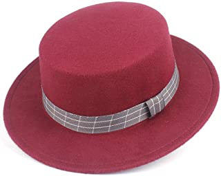 Hat Jazz Fascinator Hat Size 56-58CM 2019 Authentic Flat Top Fedora Hat For Men Women Trilby Hat Wide Brim Church Hat Fashion Hat