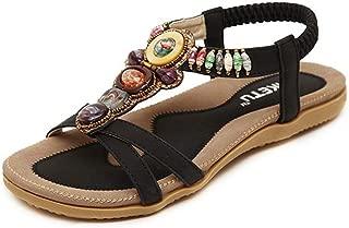 RespctfulFlat Sandals for Women Casual Criss Cross Open Toe Strappy Peep Summer Boho Flip Flops Flat Bottom Sandals