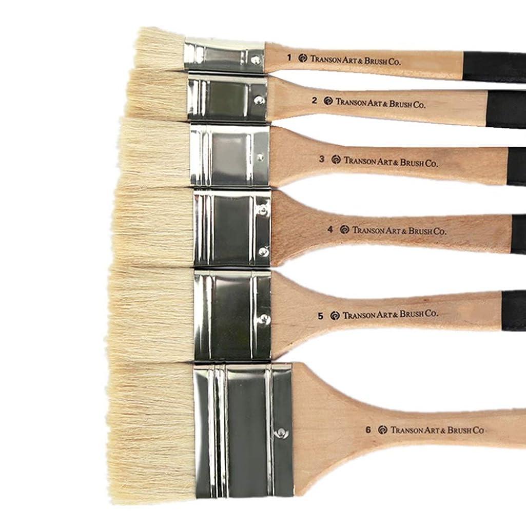 ホステス長老教育ペイントブラシセット 6PCSは石油アクリル水彩とガッシュ絵画用ブラシセットの適切なペイント キャンバスセラミッククレイの塗装用 (Color : As picture, Size : 6 pcs)