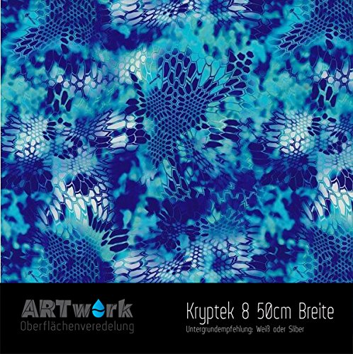 Wassertransferdruck WTD Design Folie ARTwork Kryptek 8 50cm Breite
