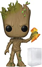 Funko Pop! Marvel: Avengers Infinity War - Groot with Stormbreaker Vinyl Figure (Includes Pop Box Protector Case)