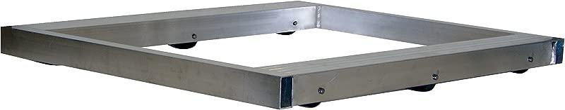 Vestil DOL 4242 6T Pallet Dolly Tilting Aluminum 4 000 Lb Capacity 4 1 8 X 42 X 42