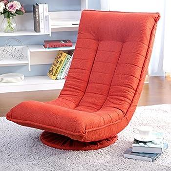 Glantop Folding Floor Gaming Chair,360-Degree Swivel Floor Lazy Sofa Chair,High Back Padded Backrest Lounger Sleeper Game Rocker Sofa for Teens Adults