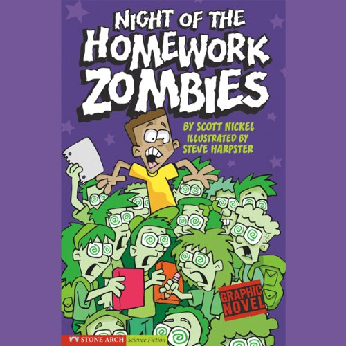 Night of the Homework Zombies audiobook cover art