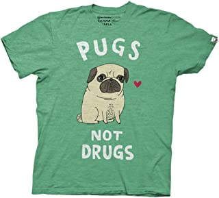 Pugs Not Drugs Mens T-Shirt