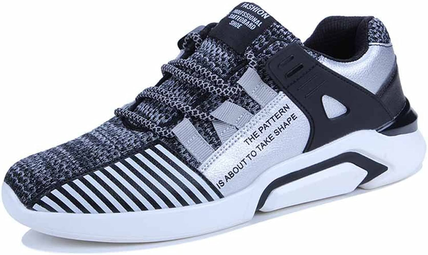 GLSHI Men Mesh Breathable Running shoes Simple Athletic shoes Lightweight Fitness shoes