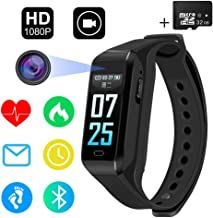 $54 » SPY Camera 32GB Full HD 1080P/30fps 720P/60fps Sports Camera Fitness Activity Tracker Watch Smart Bracelet 2 in 1 Mini Hidden Camera with Bluetooth,Heart Rate Monitor,Step Counter, Calorie Counter