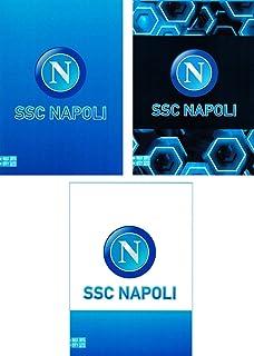 Ssc Napoli anteckningsbok linjerad med Margini A4 Maxi 96/100 set för skolan, 30 cm, blå/vit