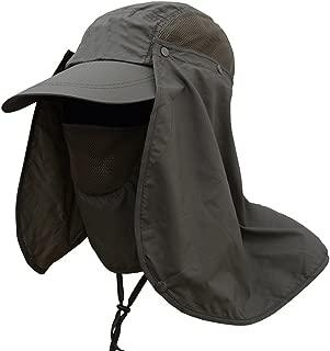 Deruicent Fishing Hat Folding Sun Hat 360° UV Protection Adjust Cap for Men Women Hiking Fishing Outdoor Yard Garden Working