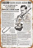 1958 RCAビクターアルバムクラブグレンミラーコレクティブルウォールアート
