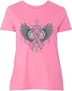 Breast Cancer Cool Wings Women's Plus Size T-Shirt
