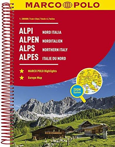 MARCO POLO Reiseatlas Alpen, Norditalien 1:300 000: Wegenatlas 1:300 000 (MARCO POLO Reiseatlanten)