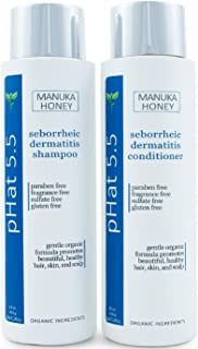 Sulfate Free Shampoo and Conditioner Set for Seborrheic Dermatitis Relief - Severe Dry & Itchy Scalp Treatment with Manuka...