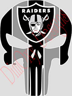 One Stop Decals Raiders Punisher (Skull) Vinyl Decal (SA10)