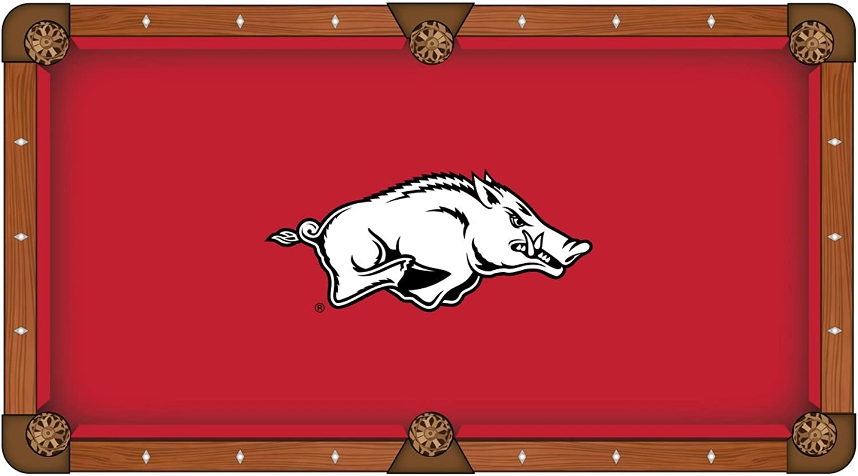 Arkansas Razorbacks HBS Red with White Logo Billiard Pool Table Cloth