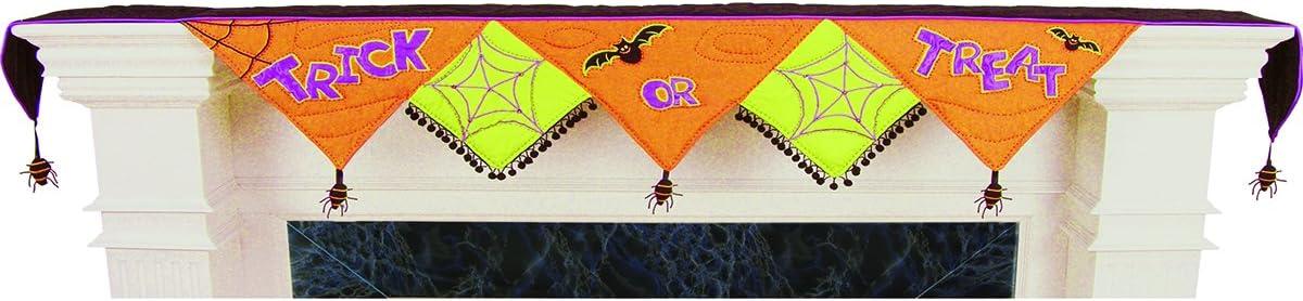 C F Enterprizes Halloween At the price shipfree Orange Mantel Scarf