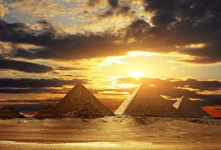 AOFOTO 8x6ft Egyptian Pyramids Backdrop Egypt Ancient Architecture Ruins Photography Background Sunlight Sky Clouds Photo Studio Props Adult Boy Girl Artistic Portrait Nature Scenic Vinyl Wallpaper