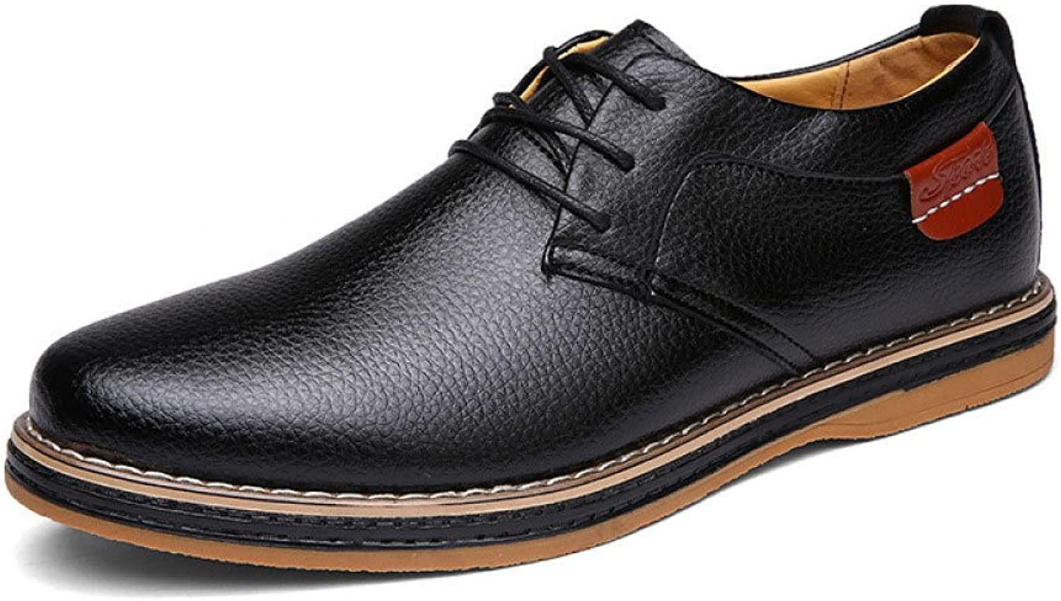 ASJUNQ Business Dress shoes with Comfortable,Black-42