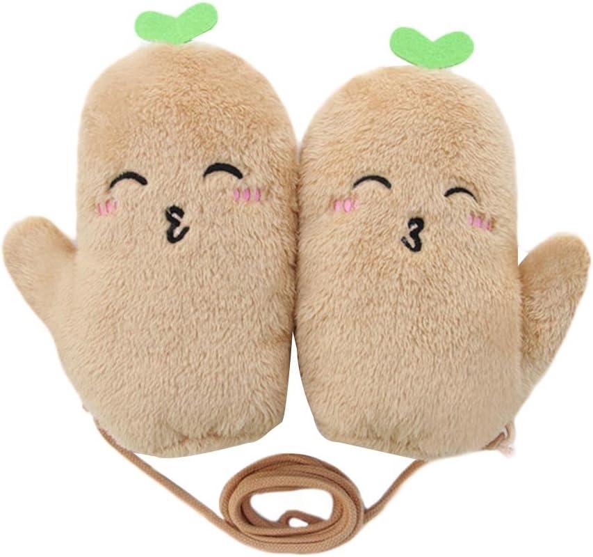 Panda Legends Plush Mittens Winter Warm Gloves Halter Gloves Women Fingerless Gloves