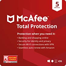$24 » McAfee Total Protection 2021, 5 Device, Internet Security Software, VPN, Password Manager, Privacy, 1 Year with Auto Renew...