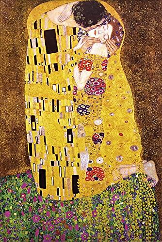 1art1 Gustav Klimt - Il Bacio, 1908 Poster Stampa (91 x 61cm)